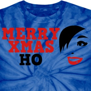 Spider baby blue merry xmas ho comedy insult Christmas shirt T-Shirts - Unisex Tie Dye T-Shirt