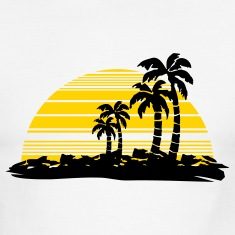 White/black sunset T-Shirts