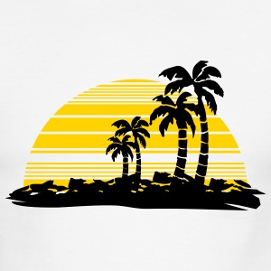 White/black sunset T-Shirts - Men's Ringer T-Shirt