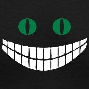 Black Cheshire cat (2c) Women's T-Shirts - Women's V-Neck T-Shirt
