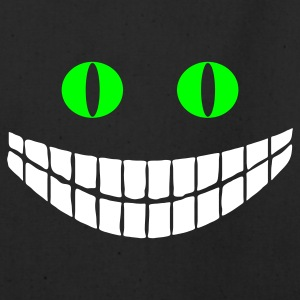 Black Cheshire cat (2c) Bags  - Eco-Friendly Cotton Tote