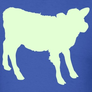 Royal blue young cow outline beef! T-Shirts - Men's T-Shirt