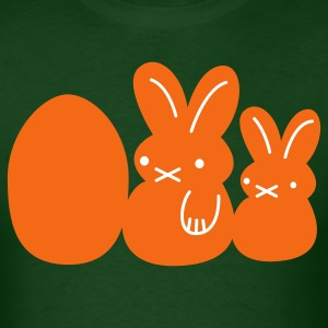 Forest green two rabbits and an egg easter T-Shirts - Men's T-Shirt
