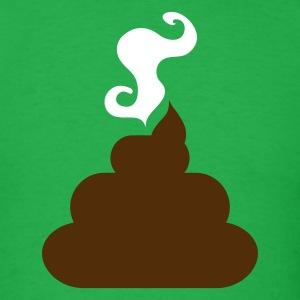 Bright green turd poo steaming pile  of crap 2 T-Shirts - Men's T-Shirt