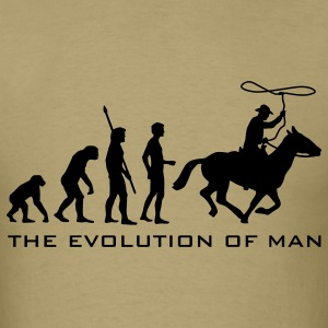 Khaki evolution_cowboy_b T-Shirts - Men's T-Shirt