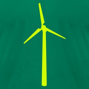 Kelly green Wind wheel T-Shirts - Men's T-Shirt by American Apparel