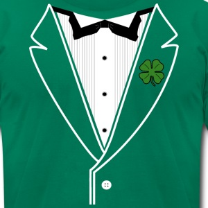 Shamrock Tux in American Apparel - Men's T-Shirt by American Apparel