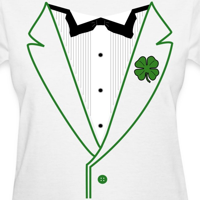 Ladies Shamrock Tux in Standard Weight Tee
