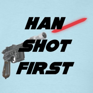 Sky blue Han Shot First T-Shirts - Men's T-Shirt