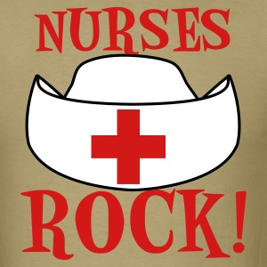 Khaki NURSES ROCK ! T-Shirts - Men's T-Shirt