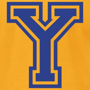 Gold Letter Y T-Shirts - Men's T-Shirt by American Apparel