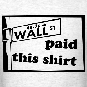Light oxford wall street sign T-Shirts - Men's T-Shirt