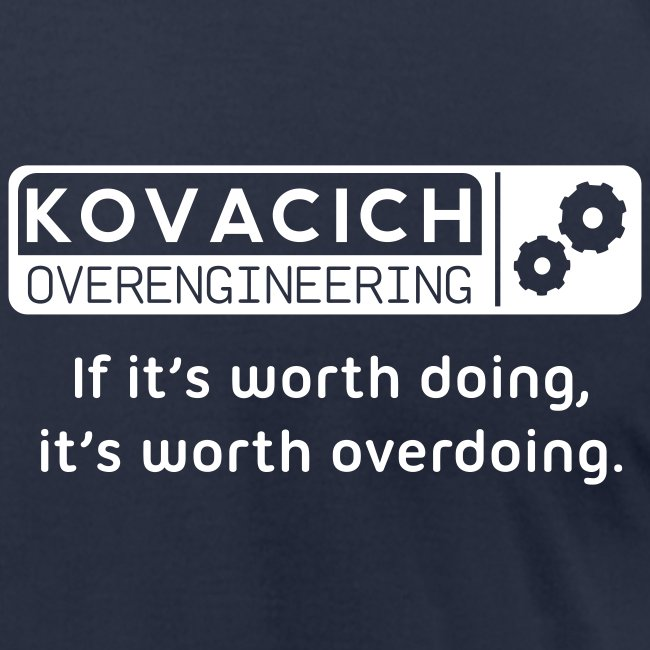 Kovacich Engineering - White on Navy