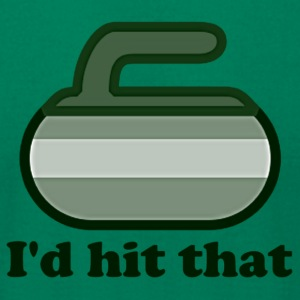 I'd hit that Curling Shirt - Men's T-Shirt by American Apparel