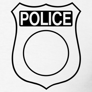 Police Badge 1c - Men's T-Shirt