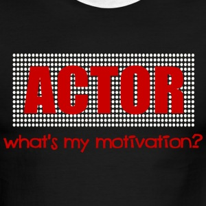 Black/white Actor, What's My Motivation, Dot Marquee, White And Red--DIGITAL DIRECT ONLY T-Shirts - Men's Ringer T-Shirt