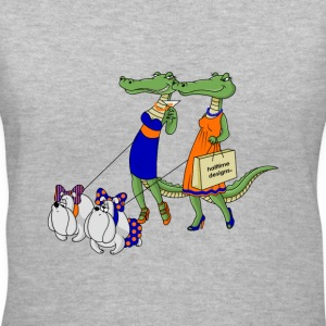Gator Girls walking Bulldogs - Women's V-Neck T-Shirt