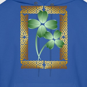 Gold Framed Shamrocks - Men's Hoodie