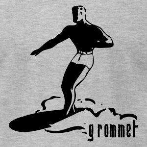 Gray Surf Grommet Men - Men's T-Shirt by American Apparel