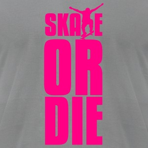 Slate skate or die T-Shirts - Men's T-Shirt by American Apparel
