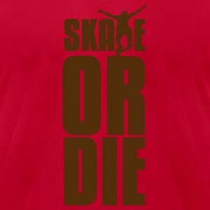 Orange skate or die T-Shirts - Men's T-Shirt by American Apparel