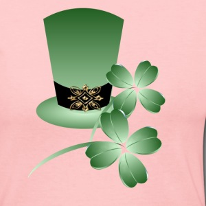 Irish Hat and Shamrocks - Women's Long Sleeve Jersey T-Shirt