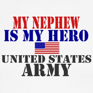 White/red MY NEPHEW IS MY HERO US ARMY T-Shirts - Men's Ringer T-Shirt