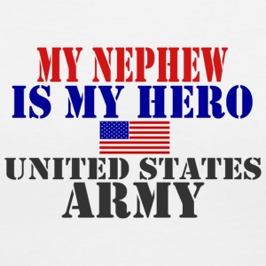 White MY NEPHEW IS MY HERO US ARMY Women's T-Shirts - Women's V-Neck T-Shirt