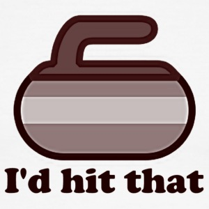 I'd hit that Curling Shirt - Men's Ringer T-Shirt