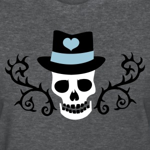 Deep heather creepy gothic skull with top hat and thorns Women's T-Shirts - Women's T-Shirt