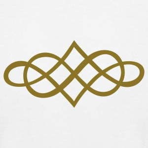 White infinity ornament (1c) T-Shirts - Men's T-Shirt by American Apparel
