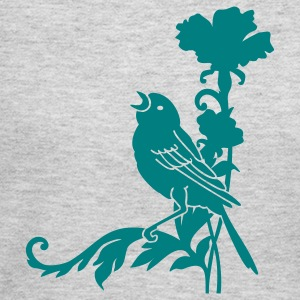 Gray sparrow 'n carnation (1c) Long Sleeve Shirts - Women's Long Sleeve Jersey T-Shirt