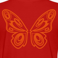 Red Butterfly wings Women's T-Shirts