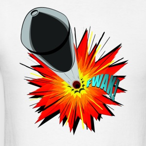 Gunshot, 3D comicbook, bullet hole, chest t-shirt - Men's T-Shirt