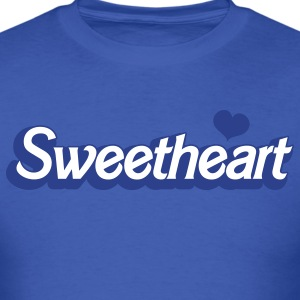 Royal blue sweetheart with love heart in barbie font T-Shirts - Men's T-Shirt