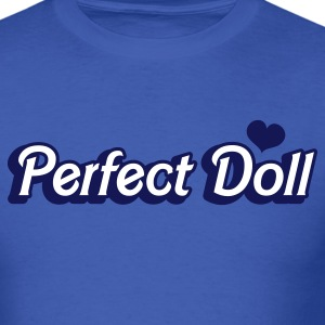 Royal blue perfect doll in barbie like font T-Shirts - Men's T-Shirt