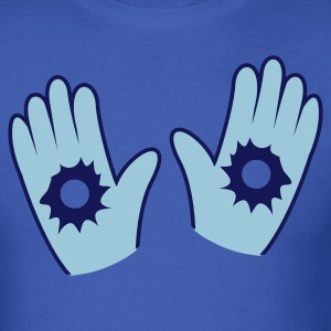 Royal blue hands up with bullet holes T-Shirts - Men's T-Shirt