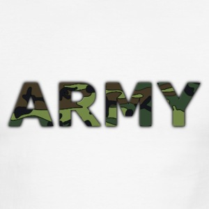 Chocolate/tan army T-Shirts - Men's Ringer T-Shirt