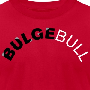 Red bulgebull_curve2 T-Shirts - Men's T-Shirt by American Apparel