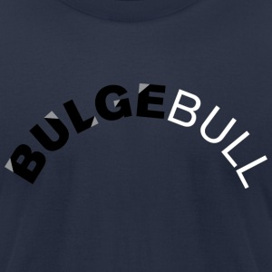 Navy bulgebull_curve2 T-Shirts - Men's T-Shirt by American Apparel