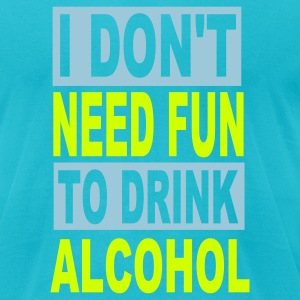 Turquoise Alcohol T-Shirts - Men's T-Shirt by American Apparel