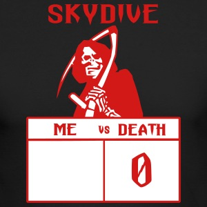 Black Skydive Me vs Death Long Sleeve Shirts - Men's Long Sleeve T-Shirt by Next Level