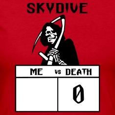 Red Skydive Me vs Death Long Sleeve Shirts