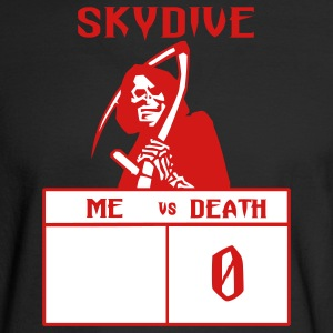 Black Skydive Me vs Death Long Sleeve Shirts - Men's Long Sleeve T-Shirt