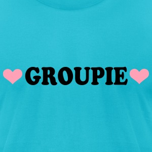 Turquoise Groupie - Band - Fan T-Shirts - Men's T-Shirt by American Apparel