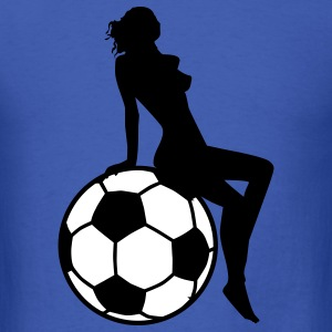Royal blue Girl on Ball 2C T-Shirts - Men's T-Shirt