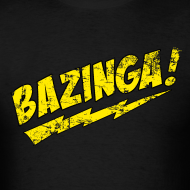 Design ~ Vintage BAZINGA T-Shirt Sheldon Cooper T-Shirt