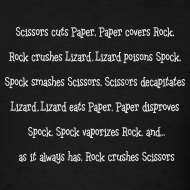 Design ~ Rock Paper Scissors Lizard Spock T-Shirt Sheldon