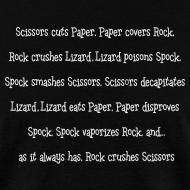 Design ~ Rock Paper Scissors Lizard Spock T-Shirt Sheldon