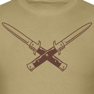 Khaki Double Switchblade T-Shirts - Men's T-Shirt